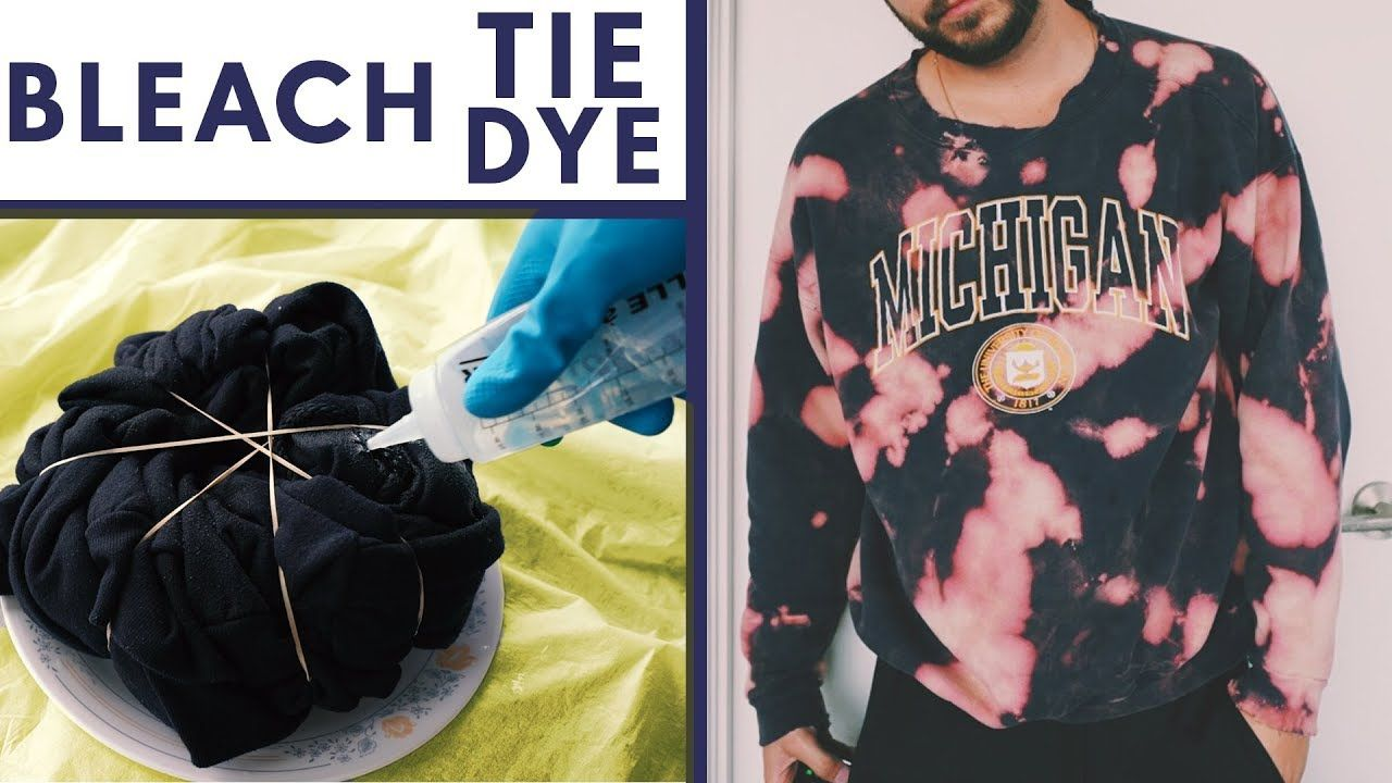 3 fun ways to tie dye shirts with bleach youtube in