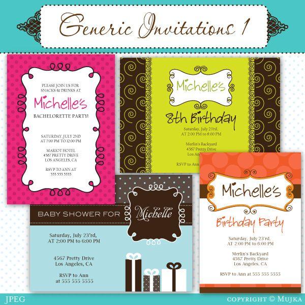 generic invitation templates svg s pinterest invitations