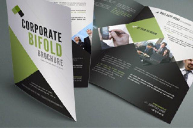 free bi fold brochure template 2 - a nice clean 11 x 8 5 bi fold corporate brochure with a