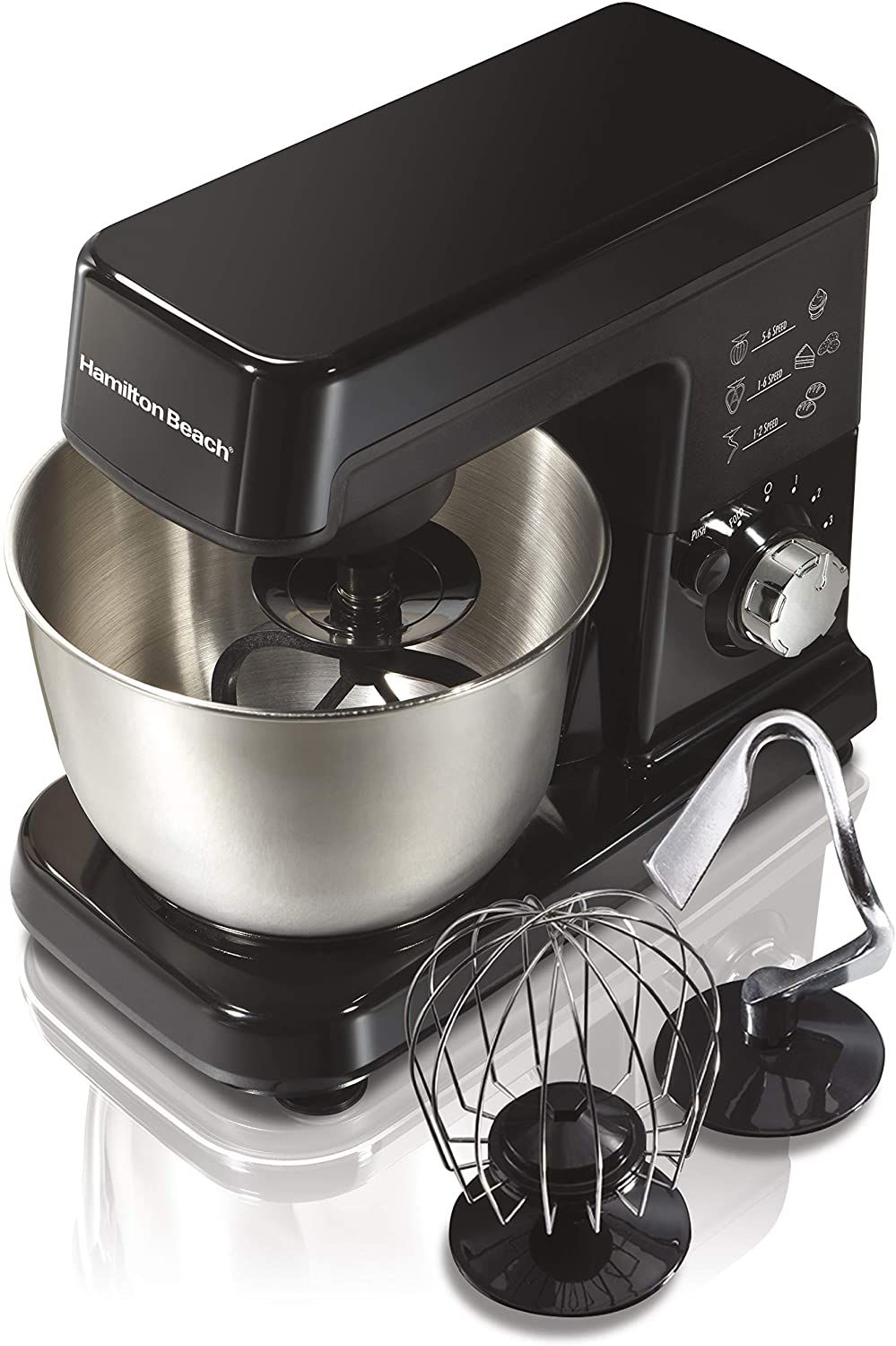 Hamilton beach 6 speed electric stand mixer with stainless