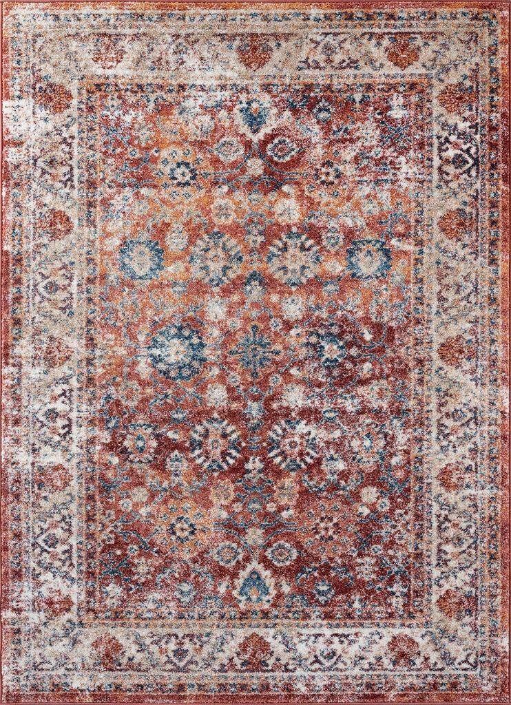 Luxe Weavers Rust Oriental 8x10 Area Rug 7159