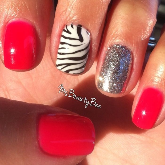 Fun animal print nails! Gelish neon pink gel polish - Shake it til ...