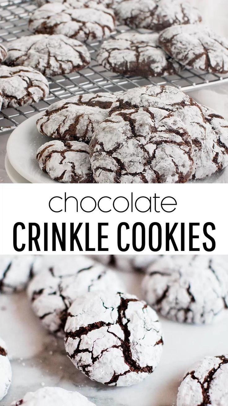 BEST Chocolate Crinkle Cookies (8 mins. baking tim