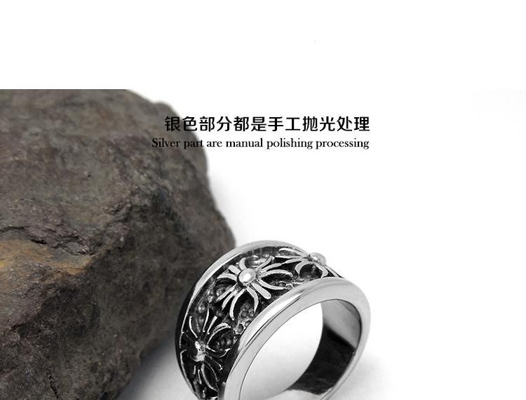 aada8ff9878 chrome hearts Hot black singles Ring Jewelry creative rock trendsetter Crowley  heart decoration ring jewelry domineering man frome chromeheartssale.org