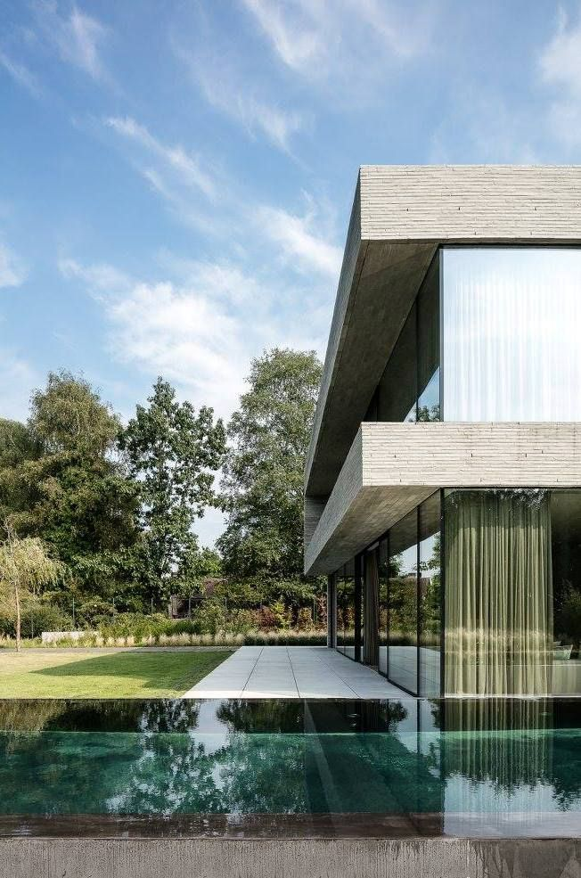 House V In Belgium By Architectslab Architecture Modern Mansion