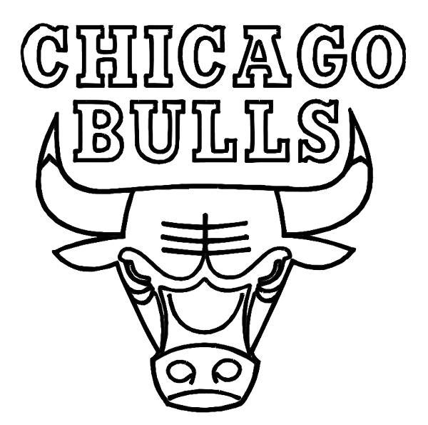 Chicago bulls coloring sheet