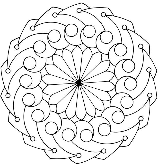Mandala | Mandalas à Colorié pour Adultes ♥♥♥ | Pinterest ...