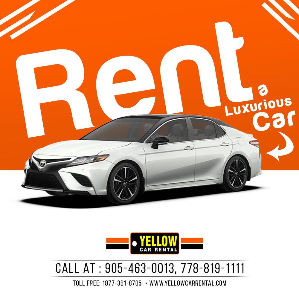 Rent A Luxurious Car Yellow Car Car Rental Car