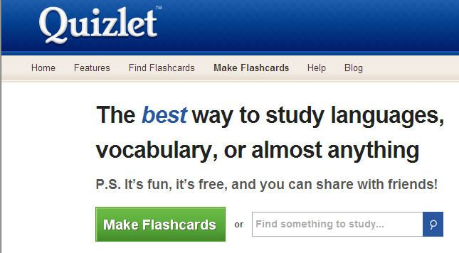 Quizlet Is The Largest Flash Cards And Study Games Website With