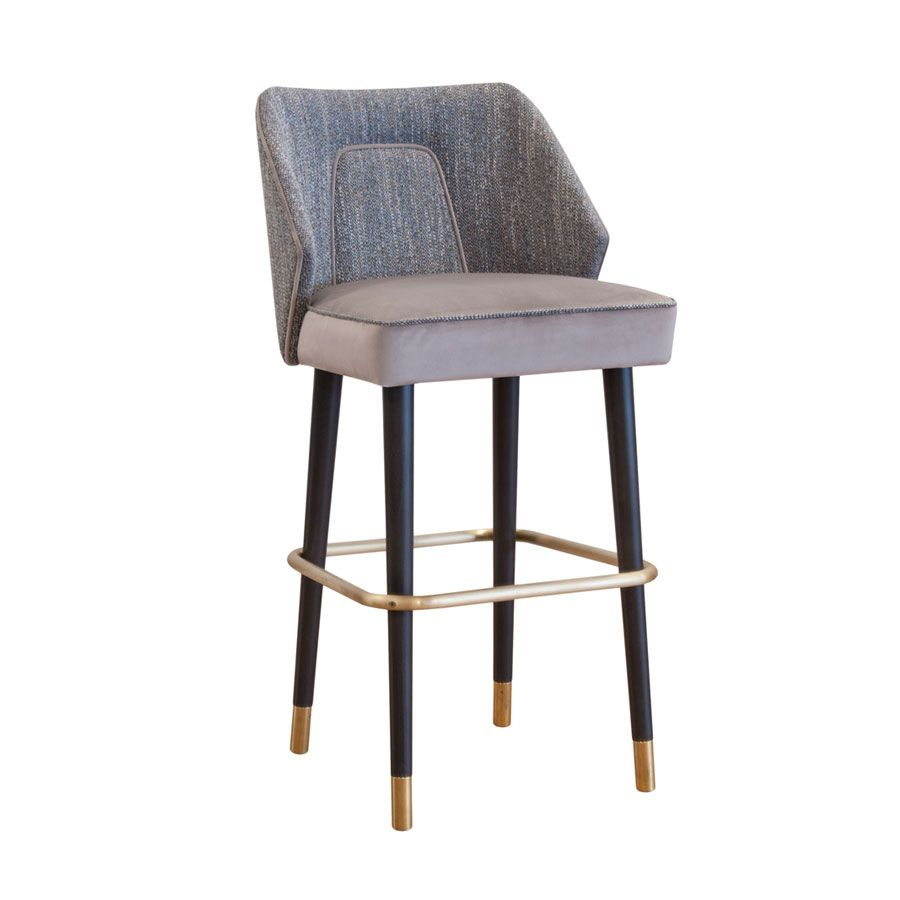Temple Stool High Stool With Footrest Solid Wooden