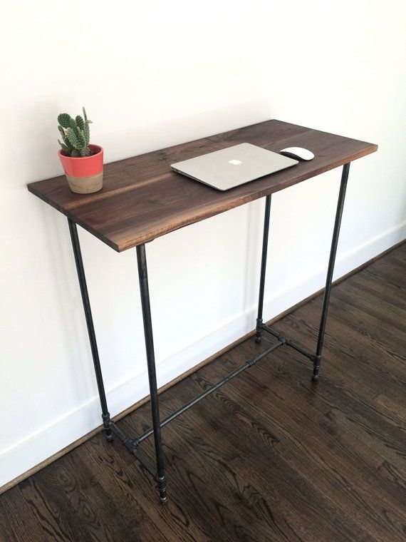 The Sanatoga Standing Desk Reclaimed Wood Pipe Standing Desk - Reclaimed wood work table