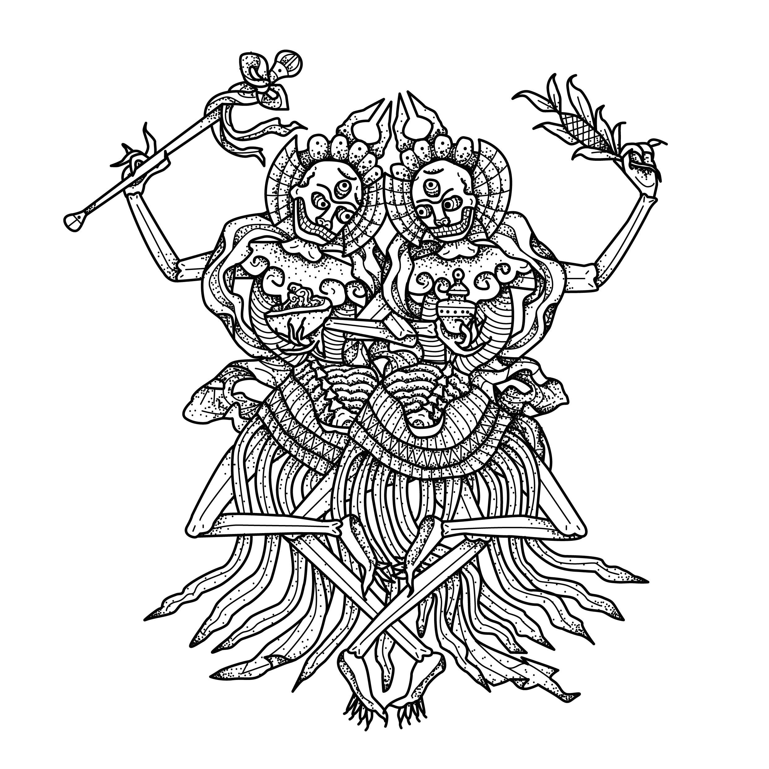 pin by bucky moore on tattoos tattoos death tattoo tattoo designs Tibetan Good Looking Men citipati is a protector deity in tibetan buddhism it is formed