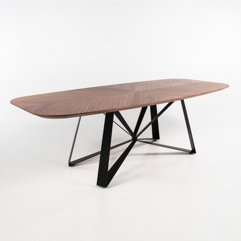 table pied central design en metal