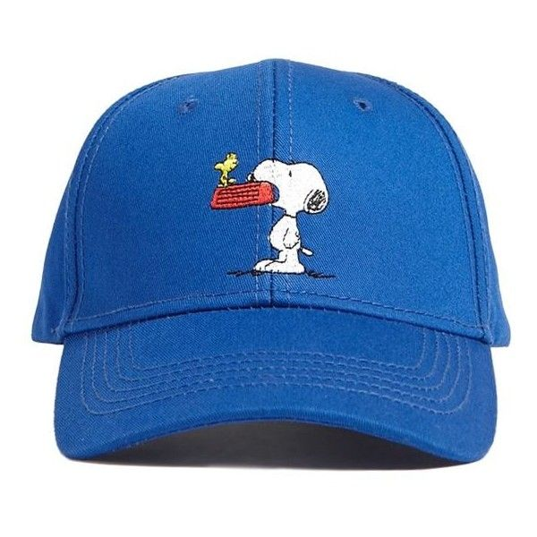 Men Snoopy   Woodstock Graphic Snapback Hat ( 13) ❤ liked on Polyvore  featuring men s fashion 9c18ed58216