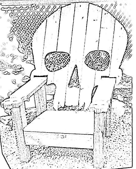 SKULL CHAIR , PATTERN , plans only-------adirondack chair, yard