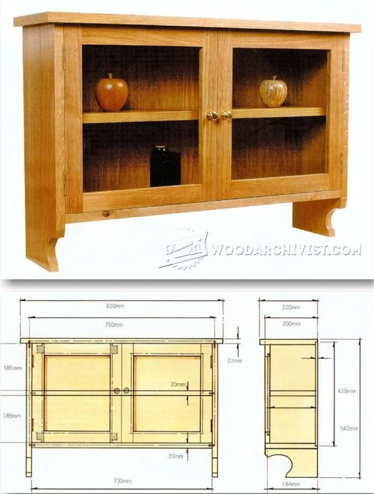 Wall Display Cabinet Plans - Furniture Plans and Projects | http ...
