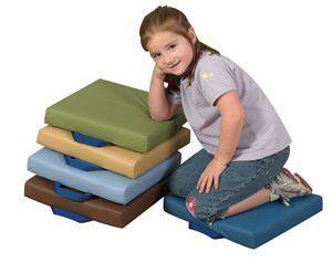 CF349-037 Set of 5 Cozy Woodland Square Floor Cushions