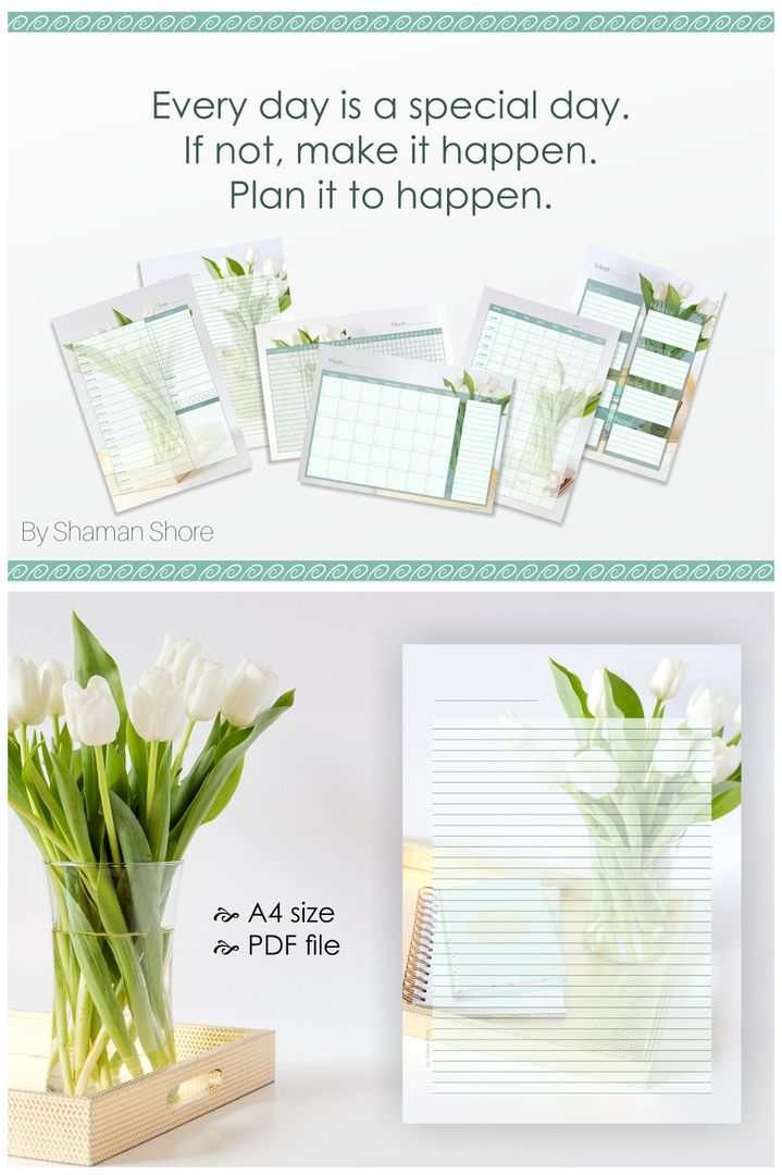 Lined Diary Pages A4 Color Flowers, Lined Diary Paper Printable - diary paper printable