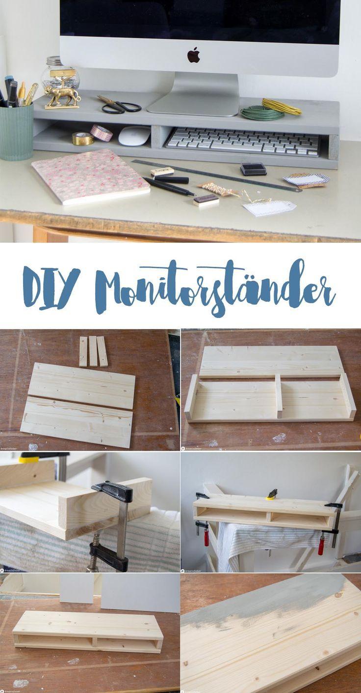 Photo of DIY Monitorständer mit Fächer für mehr Ordnung