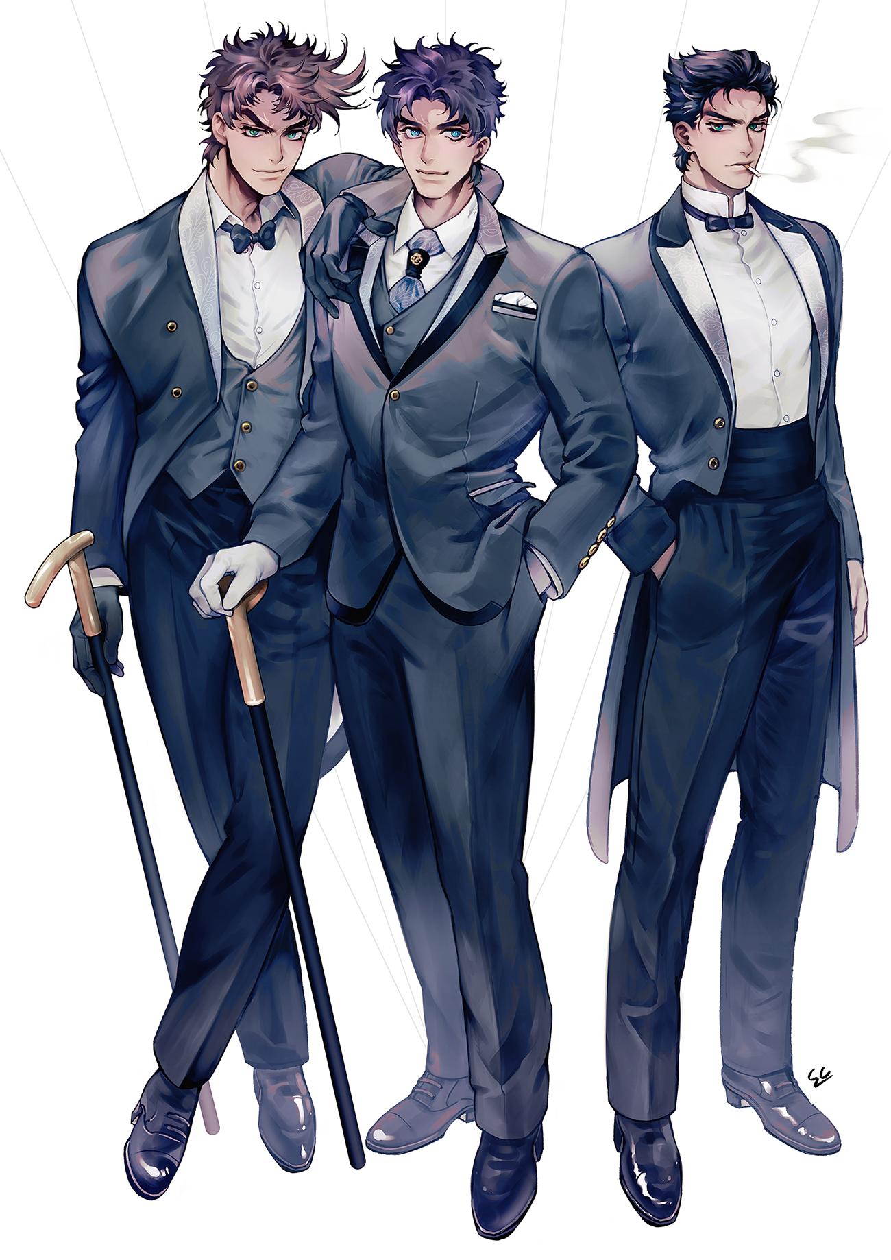 Joseph, Jonathan and Jotaro, by Sikon Gambar, Seni manga