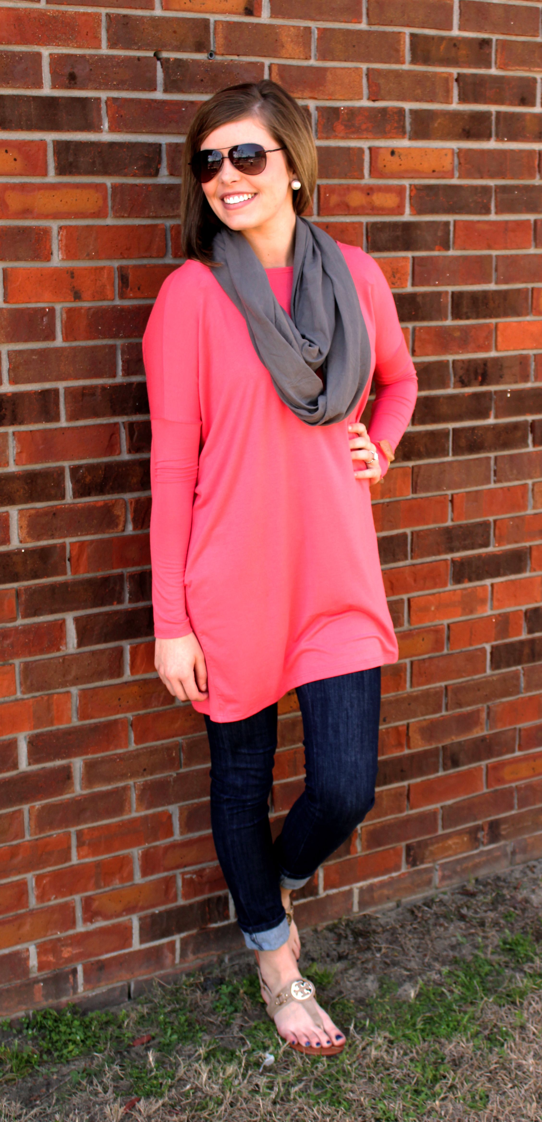 Coral Piko Tunic/Dress! SO comfy! Wear with jeggings, leggings ...