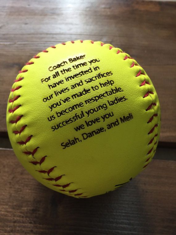 Excellent Engraved Softball, Custom Message Softball, Baseball, Coach Gift  IK65
