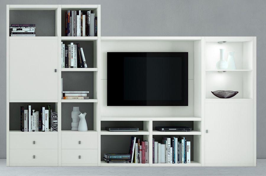 Wohnwand TV-Kombination TOLEO238 Lack weiß Jetzt bestellen unter