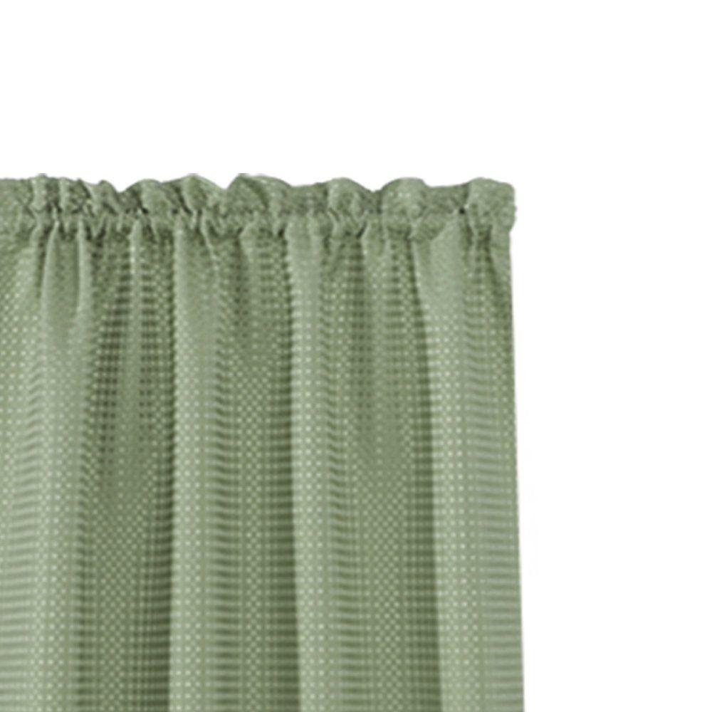 Waffleweave Textured Valance For Kitchen Waterproof Window