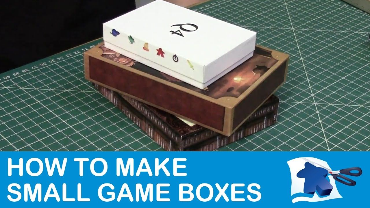 How to make small game boxes dining table print play