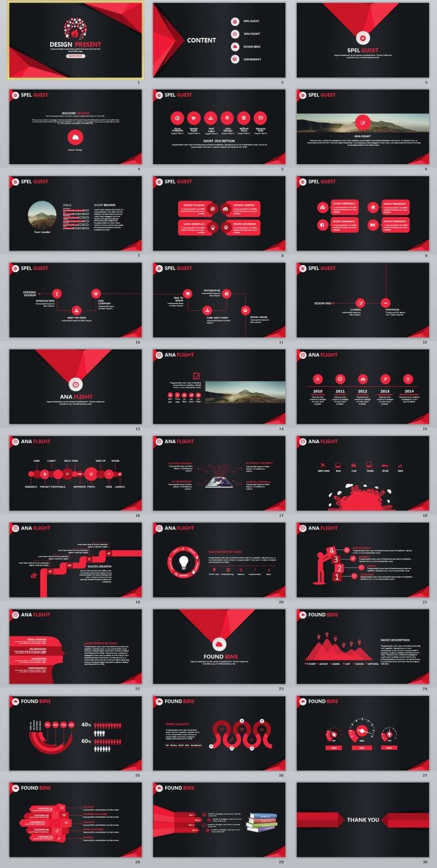 30 design present powerpoint presentation template ppt
