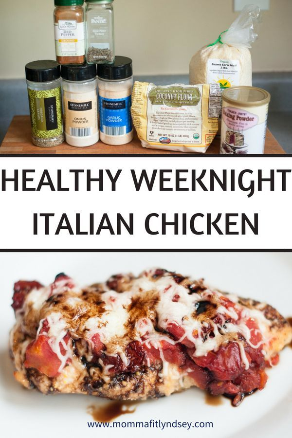 Healthy Italian Chicken Recipe {Weeknight Cooking   - Clean Eating Recipes & Meals -