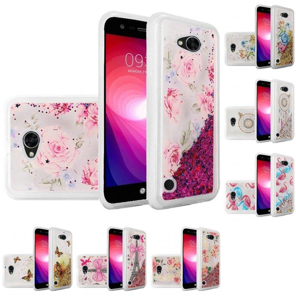 online store 286da 4538b $5.99 - For Lg Fiesta 2 4G Lte L163Bl Liquid Quicksand Glitter Cute ...