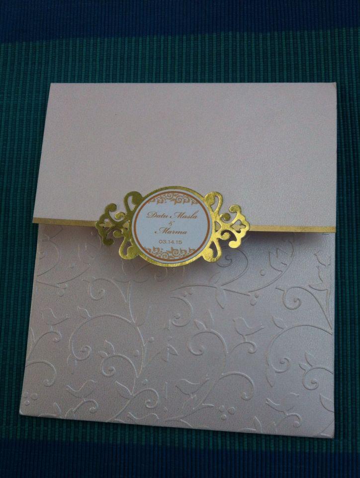 Simple & elegant wedding invitation ❤️