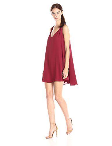 e133e4f5c25 Cold Shoulder Dress · Wine Red Hair · Ark  amp  Co Women s Solid Deep Front  V-Neck Shift Dress