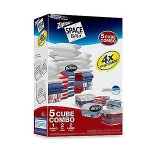 Ziploc Space Bag 5 Cube Combo Ziploc