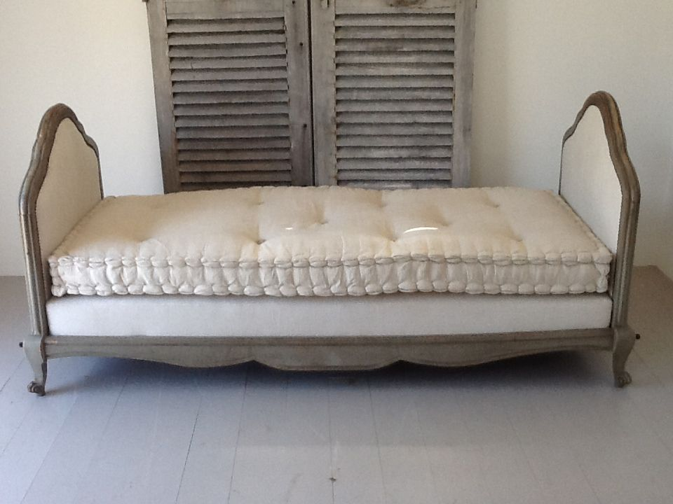 French Daybed In Antique Linen Furniture French Daybed