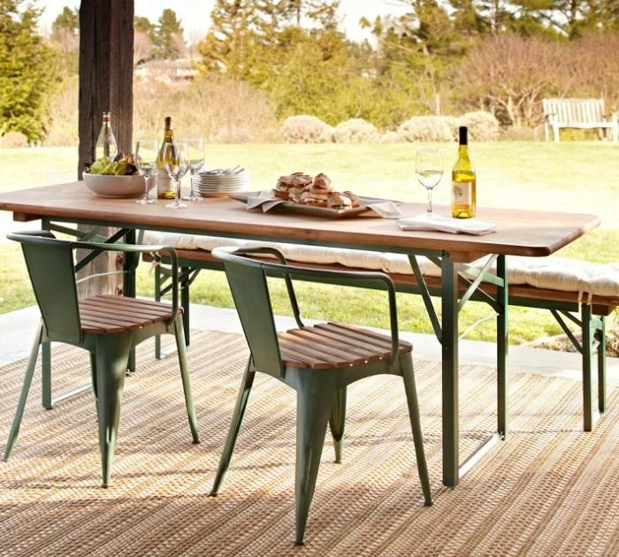 Tavern Rectangular Fixed Folding Dining Table CLIENT B - 30 wide outdoor dining table