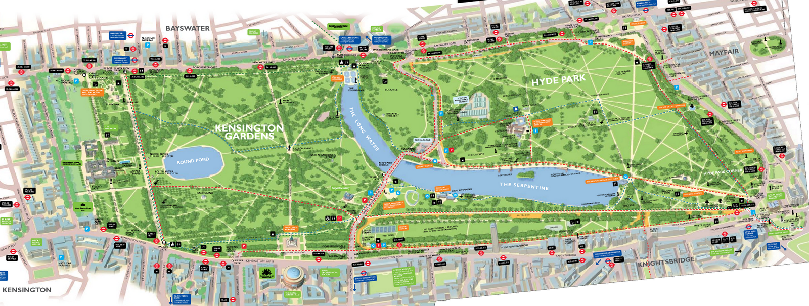 Kensington Park Map Hyde Park and Kensington Gardens, London | Been There Done That in