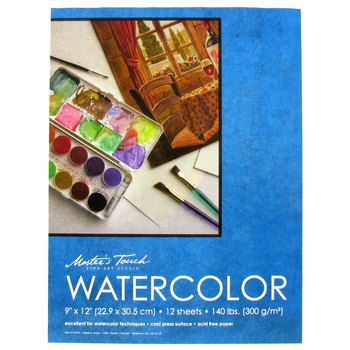 9 X 12 Master S Touch Watercolor Paper Pad Paper Pads Canvas