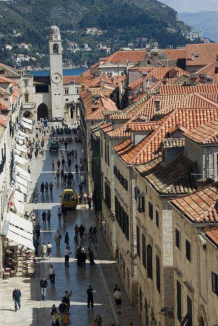 Dubrovnik Placa Overhead Unesco Heritage Site Unesco World Heritage Site Wonders Of The World