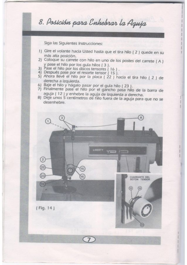 Instructivo Manual Máquina de Coser Liberty Zig Zag (con