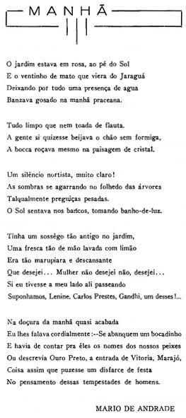 Poema Manhã em 2020 | Mário de andrade, Citações, Poema