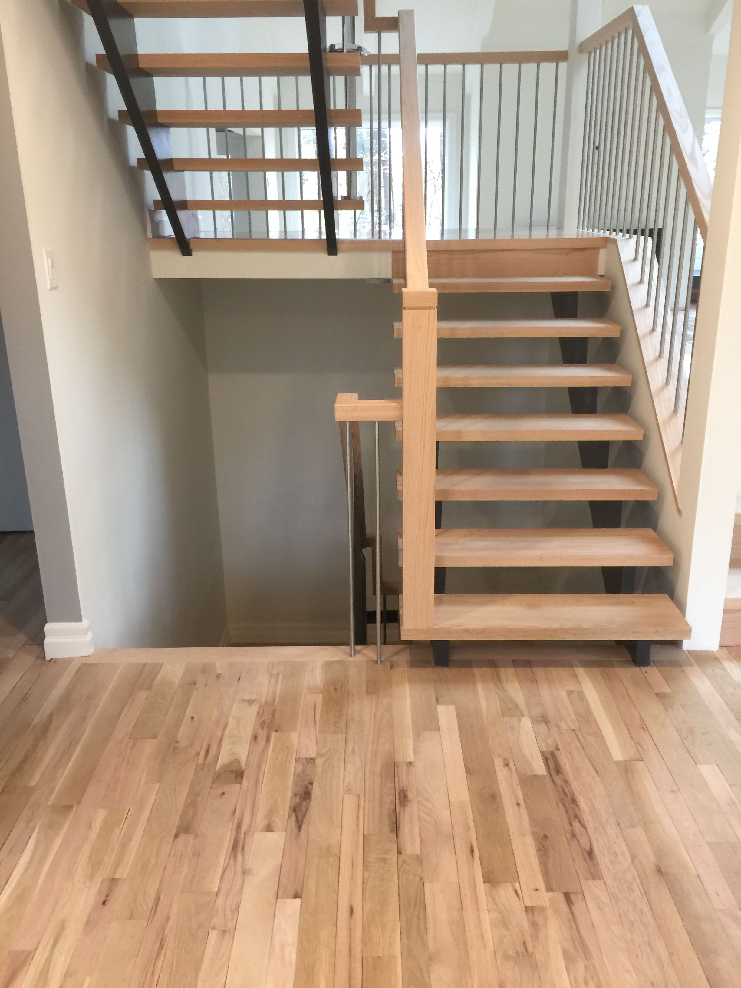 Red Oak Floor And Stair Treads With 2 Coats Of