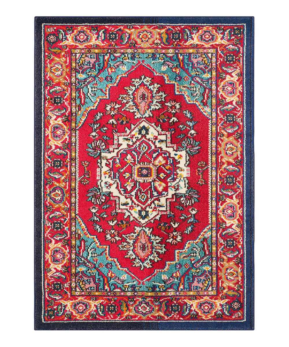 Red Turquoise Aydin Rug Zulily