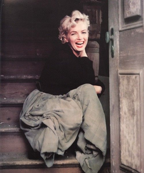 """""""A day without laughter is a day wasted"""" {photo - Marylin Monroe} #marilynmonroe #laugh #vintage"""
