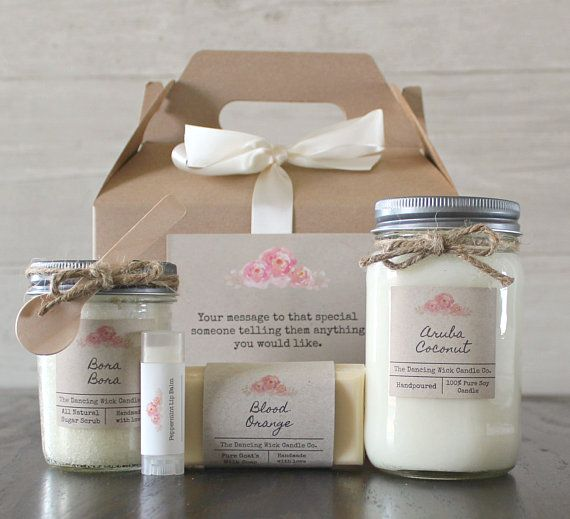 Candle Spa Gift Set Gift For Her Personalized Gift