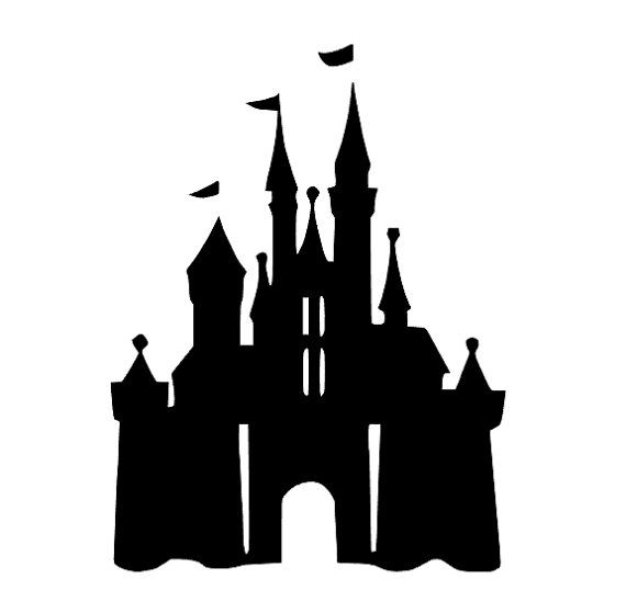 Magic Kingdom Castle Silhouette SVG and DXF by ...