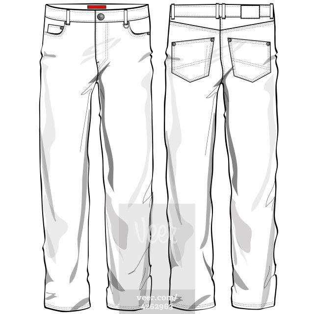 джинсы технический рисунок этот