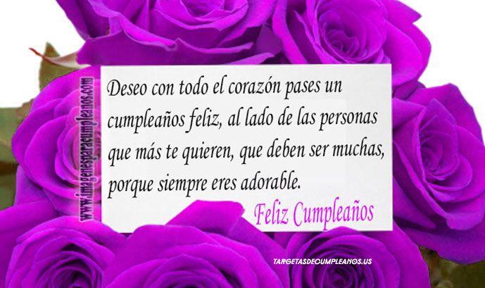 Felicitaciones De Cumpleaños Con Flores: Flores Con Bonitos Mensajes De Cumpleaños (3)