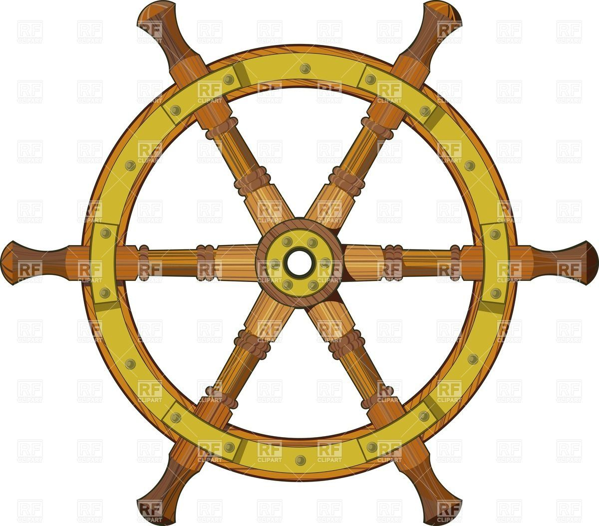 ship steering wheel clipart | ... wooden ship steering ...